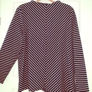 NWOT Talbots mock neck striped top